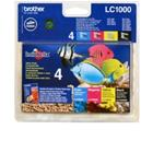 Brother LC-1000 - value pack, mustekasetti