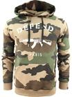 Defend Paris Paris Hoodie Camo Tan