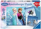 Ravensburger, Palapeli, Disney Frozen, Winter Adventure, 3 x 49 palaa
