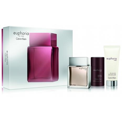 Calvin Klein - Euphoria Men EDT 100 ml + After-shave 100 ml + Deo stick 75 ml - Giftset
