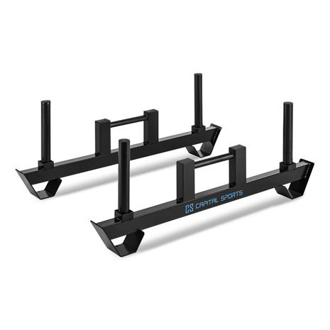 CAPITAL SPORTS Pawner Farmers Walk painolevytangot Heavy Duty Bars 2 kappaletta musta