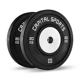 CAPITAL SPORTS Inval Hi grade Competition Bumperplates 50mm Aluminiumkern 2x20kg