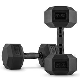 CAPITAL SPORTS Hexbell Dumbbell Kurzhantel Paar 2 x 25 kg