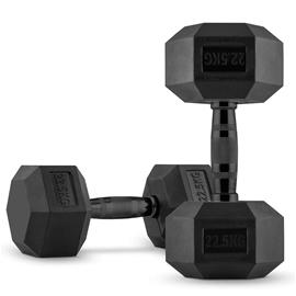 CAPITAL SPORTS Hexbell Dumbbell Kurzhantel Paar 2 x 22,5 kg