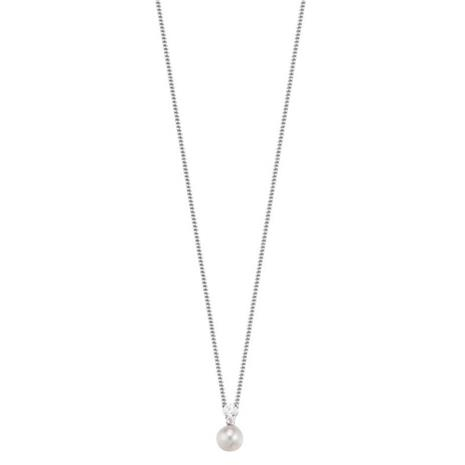 Silver Real Pearl Halsband