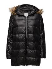 Mango Hooded Feather Coat 14785308