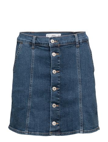 Mango Buttoned Denim Skirt 14763086
