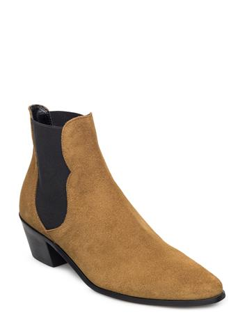 Mango Leather Chelsea Ankle Boots 14325348