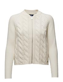 GANT O1. Lambswool Cable Zip Jacket 14913133