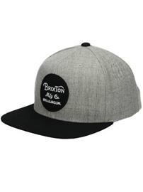Brixton Wheeler Snapback Lippis light heather grey / black / harmaa Miehet