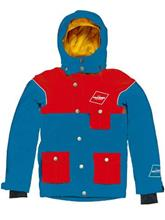 Draussen Flo Jacket Youth blue / red / kuvioitu Jätkät
