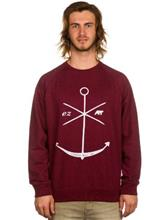 Ezekiel Adrift Crewneck Sweater heather red blue / punainen Miehet