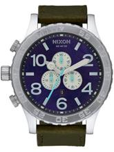 Nixon The 51-30 Chrono Leather purple / olive / violetti Miehet