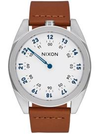 Nixon The Genesis Leather Rannekello white / saddle / valkoinen Miehet