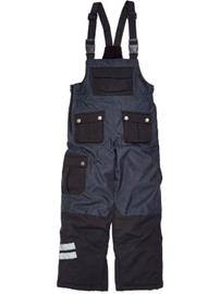 Draussen Bib Pants Youth black / musta Jätkät