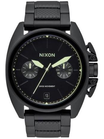 Nixon The Anthem Chrono Rannekello all black / lum / musta Miehet
