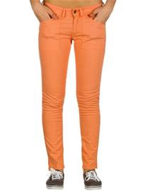 Quiksilver Skinny Bright Crop Jeans coral / oranssi Naiset