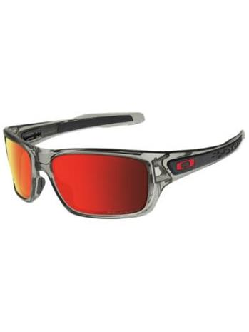 Oakley Turbine grey ink ruby iridium polarized / harmaa Miehet