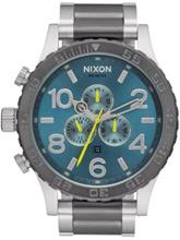 Nixon The 51-30 Chrono gunmetal / aqua sunray / harmaa Miehet