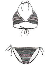 O'Neill Mermaid Triangle B-Cup Bikini black aop w / blue / musta Naiset