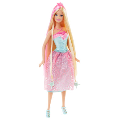 MATTEL Barbie Endless Hair Princess, pinkki