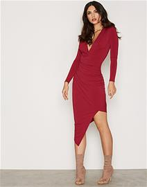 NLY One Low Plunge Drape Dress