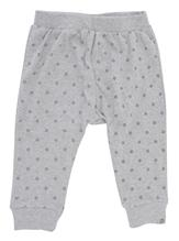 PAPFAR - Baby Pants, Cotton - AOP - Grey Melange (716261-130)