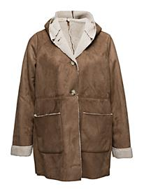 Violeta by Mango Faux Shearling Aviator Coat 14597952