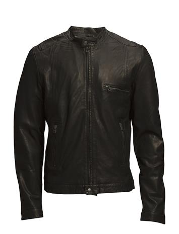 MDK / Munderingskompagniet Karl Leather Jacket (Black) 11697355