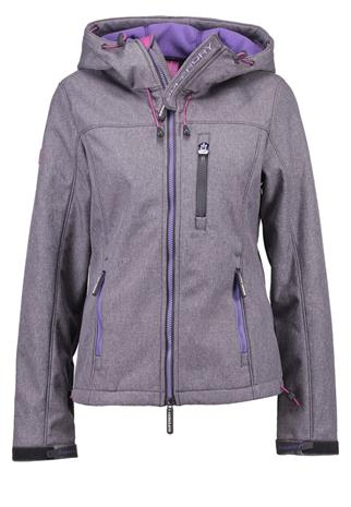 Superdry Välikausitakki dark grey/gritfluro purple
