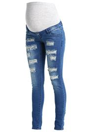 MAMALICIOUS MLNEWSILJE Slim fit farkut med blue denim
