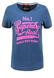 Superdry DOUBLE DROP Printtipaita acid indigo