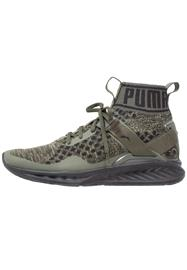 Puma IGNITE EVOKNIT Kuntoilukengät burnt olive/forest night/black