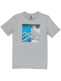 Element Peak T-paita grey heather / harmaa Miehet