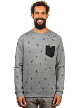 Volcom Wasteland II Crew Sweater dark grey / harmaa Miehet