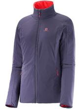 Salomon Drifter Outdoor Jacket nightshade grey / infrared / harmaa Naiset