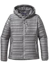 Patagonia Ultralight Down Hooded Ulkoilutakki feather grey / harmaa Naiset