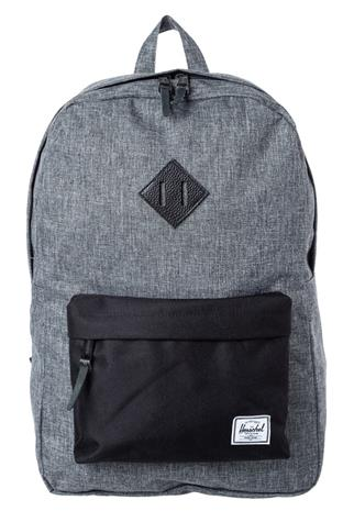 Herschel HERITAGE Reppu raven crosshatch/black/black pebbled leather