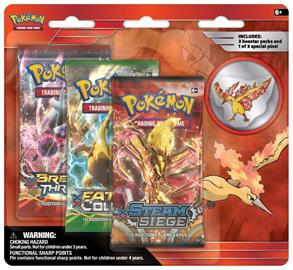 Pokemon - Moltres - Collectors Pin - 3 pack