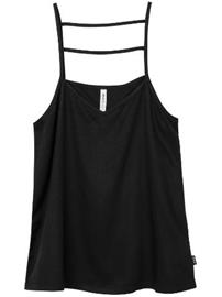 RVCA Crossed Out Tank Top black / musta Naiset