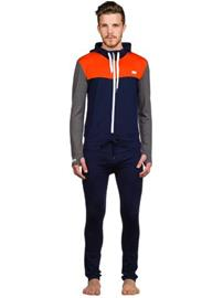 Mons Royale Merino The Monsie One Piece Tech Suit spice / navy / charcoal / oranssi Miehet
