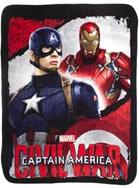Marvel Captain America Civil War Filt Fleecefilt - Iron man