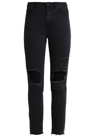 Missguided RIOT Slim fit farkut black