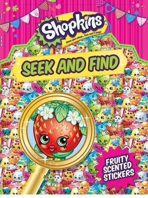 STICKERS-SHOPKINS SEEK&FIND (Little Bee Books), kirja