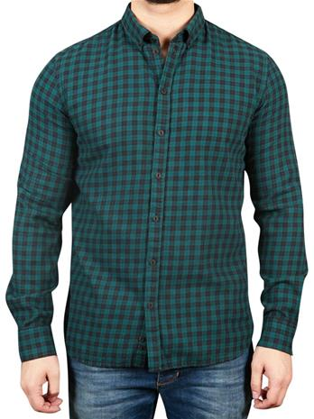 Gabba Brooks Ginham Shirt DK. Green Check
