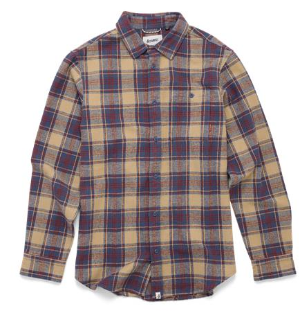 Altamont Binary Flannel Shirt Blue