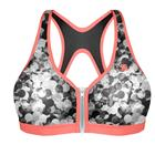 Active Zipped Plunge Bra, Print Bubble, 70B
