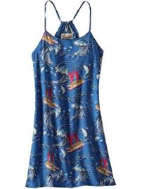Patagonia Limited Edition Pataloha Dress voyage: superior blue / kuvioitu Naiset