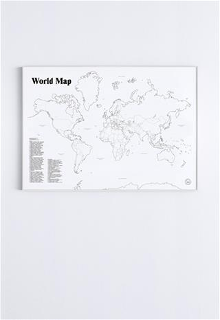 Studio Esinam World Map, juliste 70 x 100 cm