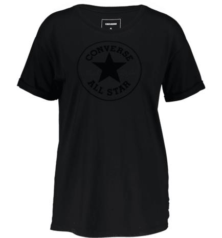 Converse W ELEVATED CHUCK PATCH EASY CREW TEE BLACK